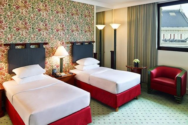 Phòng 2 giường đơn Deluxe của hách sạn Hilton Hanoi