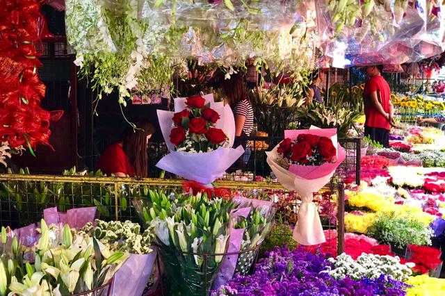 Dangwa là khu chợ hoa lớn nhất thành phố với đủ các loại hoa tươi trong nước và nhập khẩu